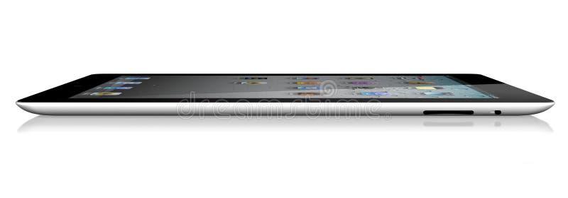 iPad 2 Wi-Fi de Apple vista lateral 64Gb + 3G ilustración del vector