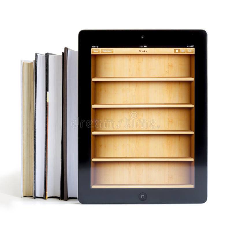Free Ipad 3 With Books Application Royalty Free Stock Photos - 27171538