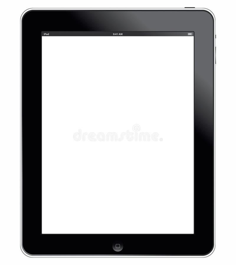 iPad 3G del Apple con il percorso di residuo della potatura meccanica illustrazione vettoriale