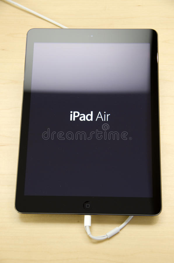 IPad Air. In Apple store in Seattle royalty free stock photo