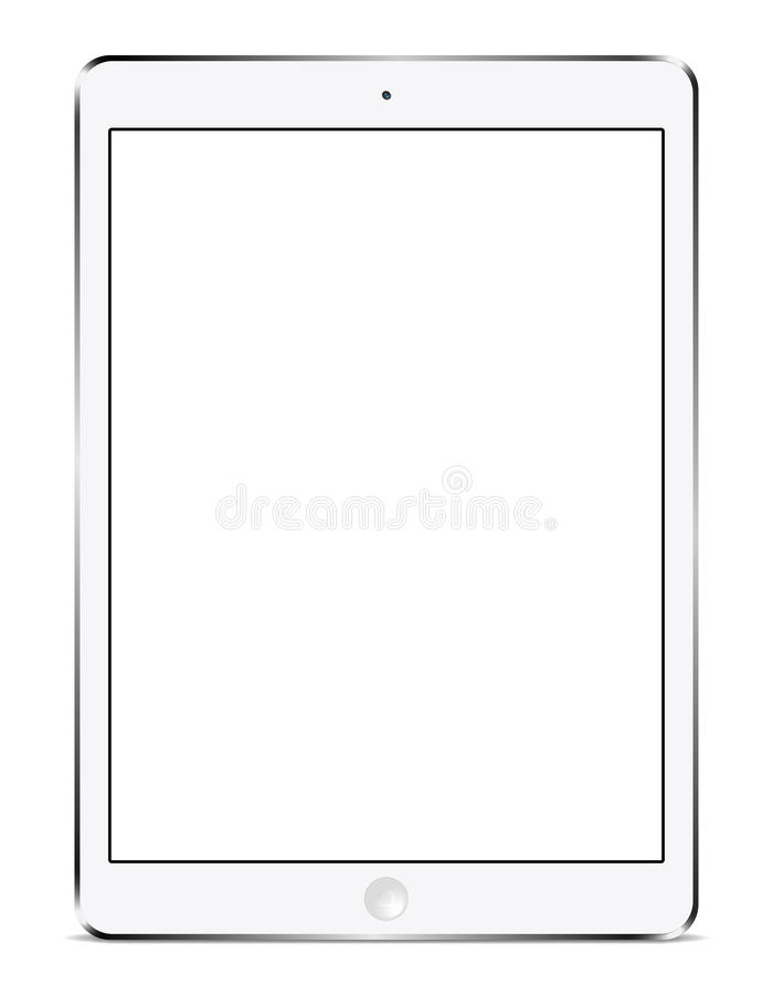 IPad Air white stock illustration