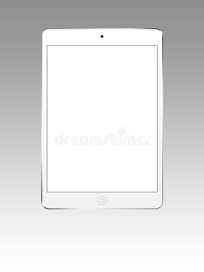 Ipad blanco mini 3 libre illustration