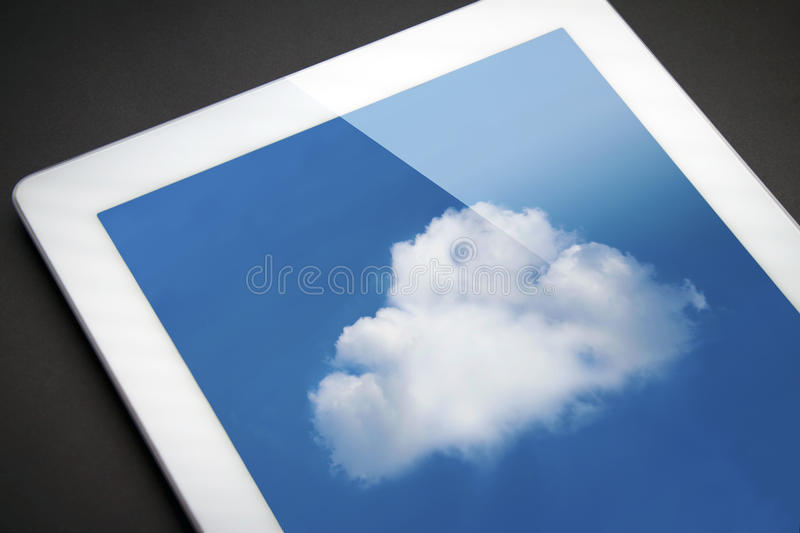 IPad with cloud -- cloud computing!. Sync to the cloud with your mobile device