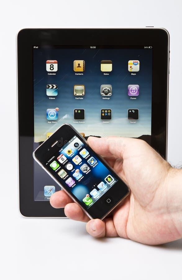 iPad e iPhone de Apple foto de stock royalty free