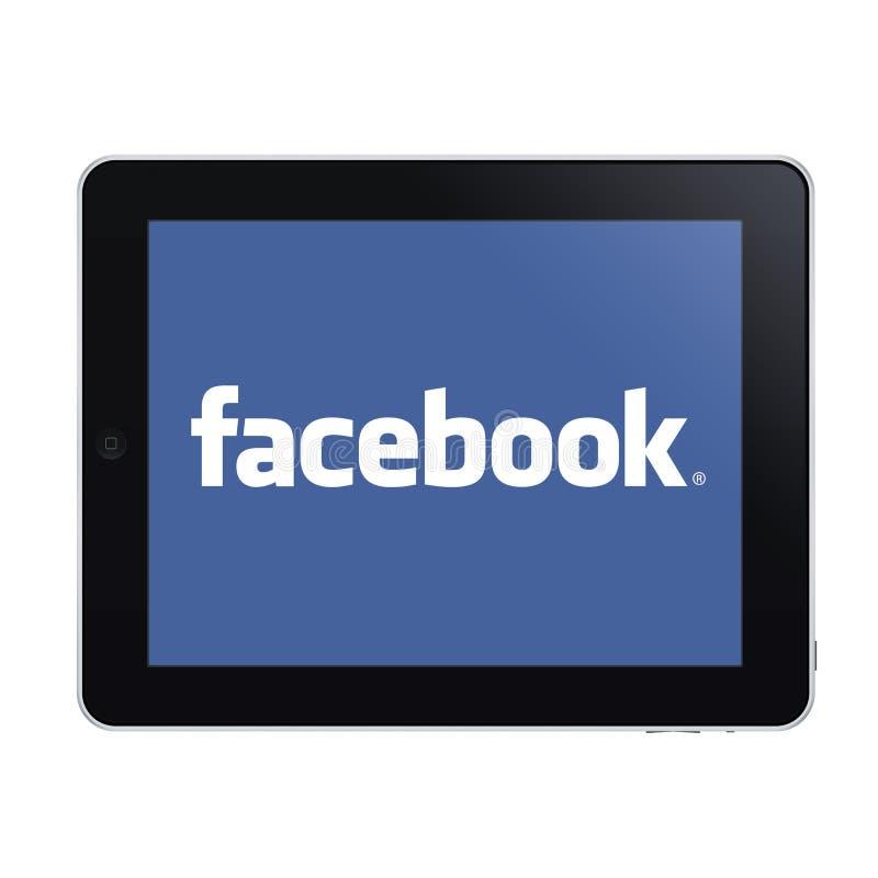Ipad en facebook stock illustratie