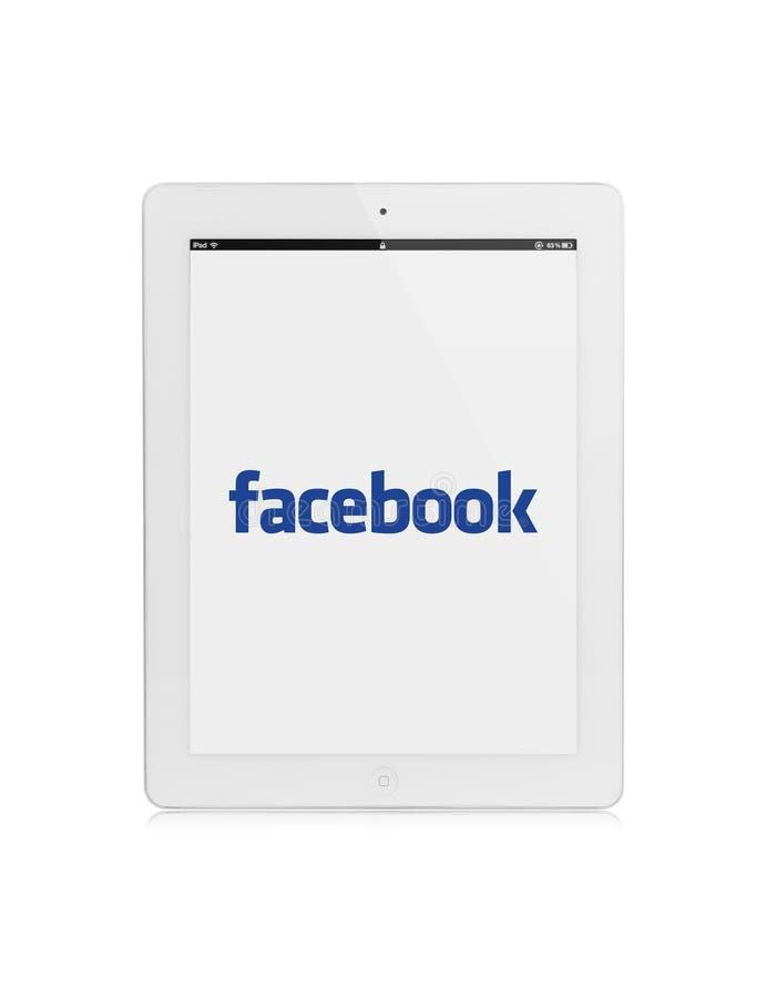 Ipad facebook 皇族释放例证