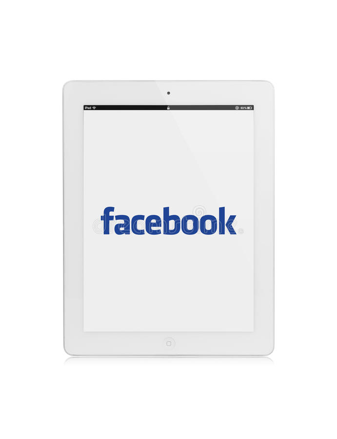 Ipad facebook royalty free illustration
