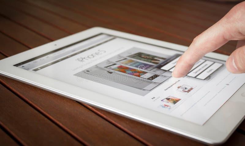 Ipad-Fingernote stockfotografie