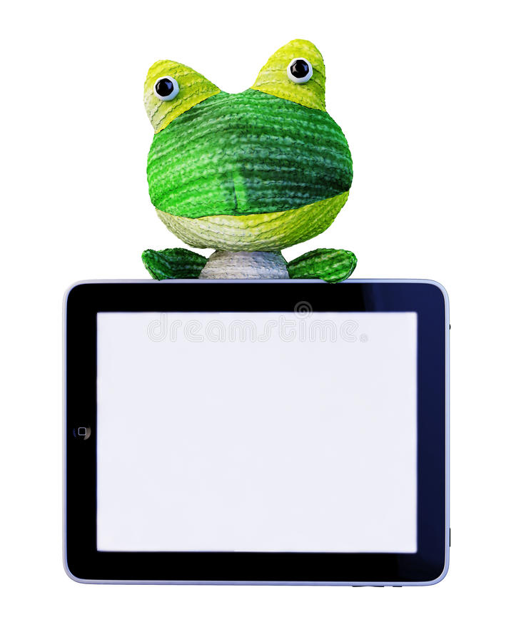 Ipad frog royalty free stock photography