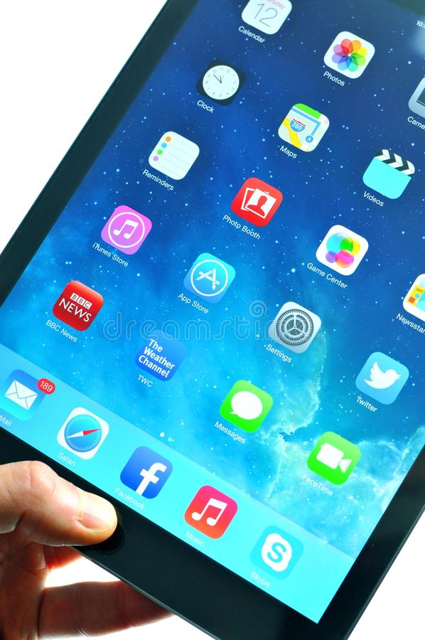 iPad Lucht stock foto