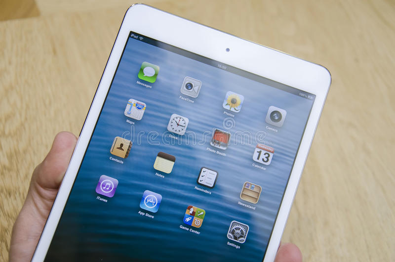Ipad mini white stock image