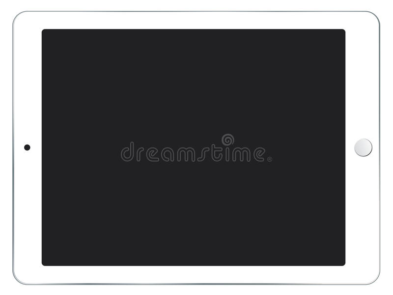 IPad mini witte vectorillustratie stock illustratie