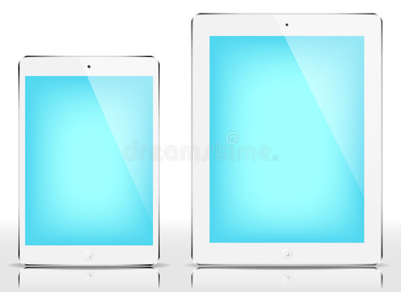 IPad mini y iPad - pantalla azul libre illustration