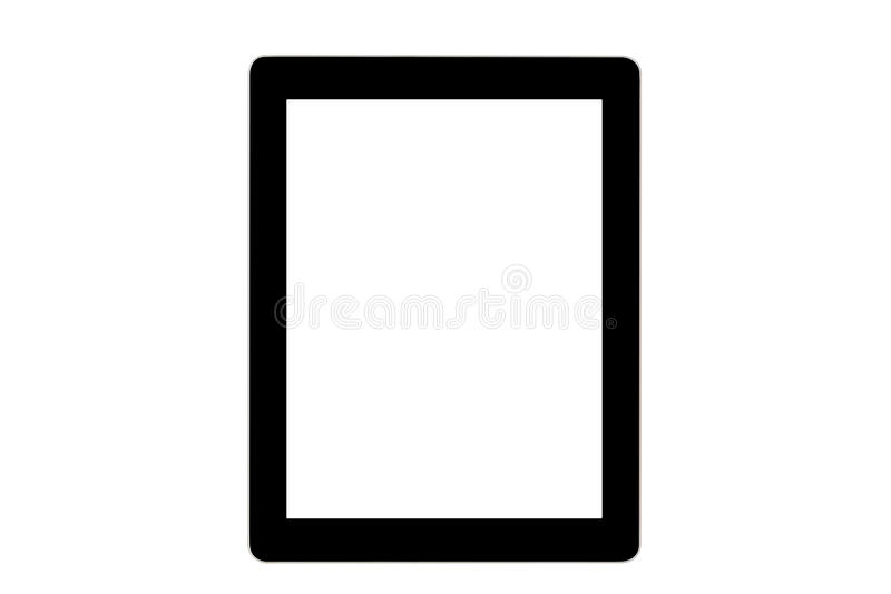 Ipad noir sur le fond blanc images stock