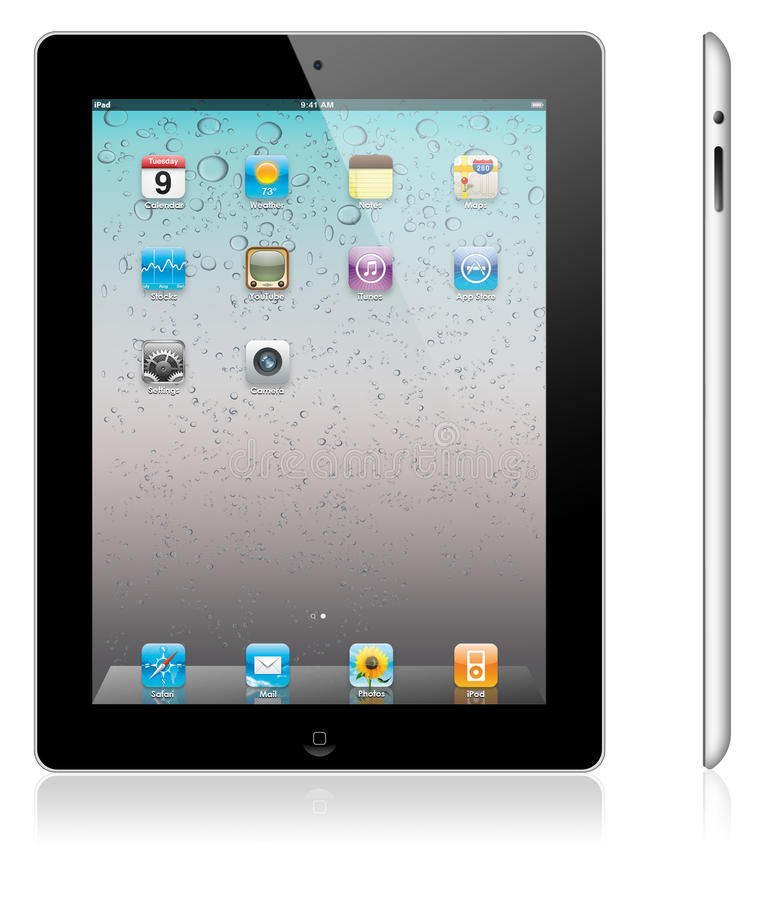 iPad novo 2 de Apple ilustração stock