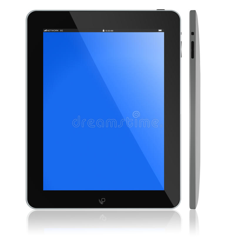 iPad novo de Apple ilustração stock
