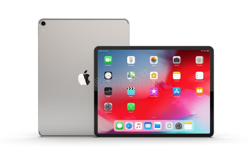 IPad Pro новая версия планшета от Яблока стоковое изображение