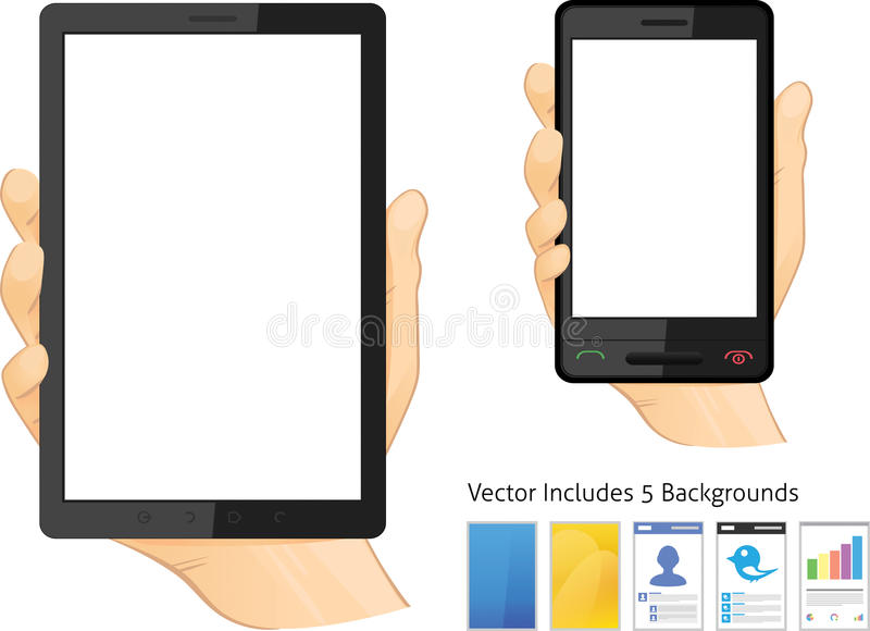 Download IPad tablet computer stock vector. Image of holds, five - 22153259