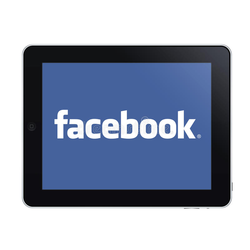 Ipad und facebook stock abbildung