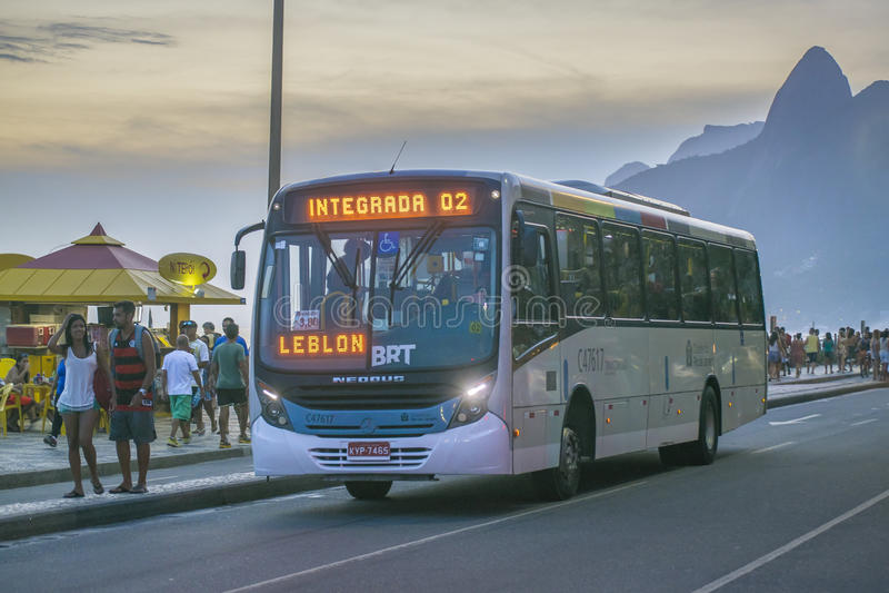 Ipanema边路里约热内卢巴西 免版税库存图片