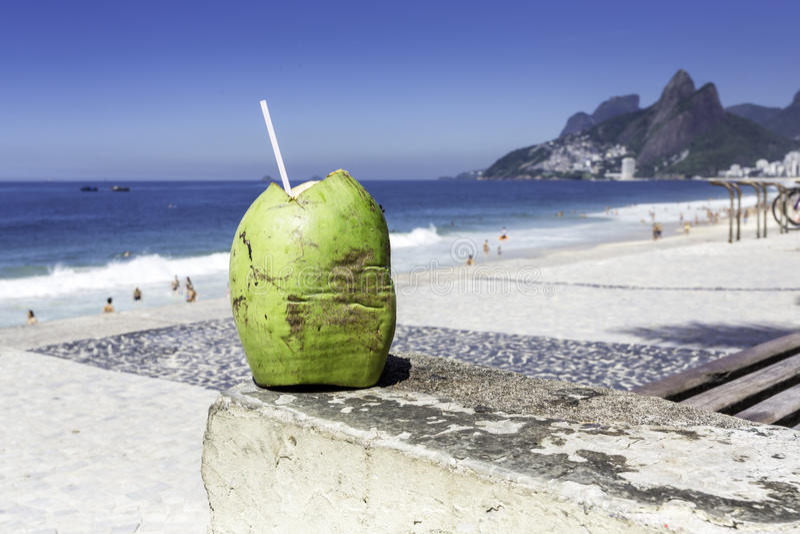 Ipanema Beach in the morning, Rio de Janeiro royalty free stock image