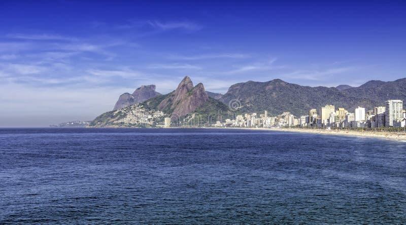 Ipanema beach in the morning, Rio de Janeiro stock photo