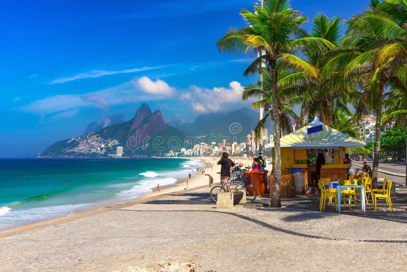 Ipanema beach in Rio de Janeiro. Brazil royalty free stock photo