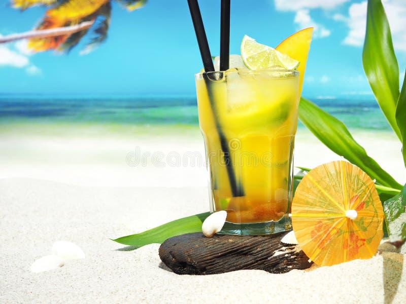 Ipanema - Non alcoholic Cocktail on the Beach. Ipanema - Non alcoholic Cocktail on a sunny Beach stock photo