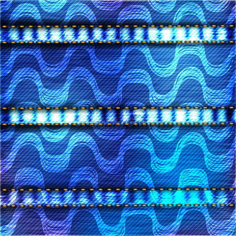 Ipanema plaża z drelichowym tekstura wzorem ilustracji