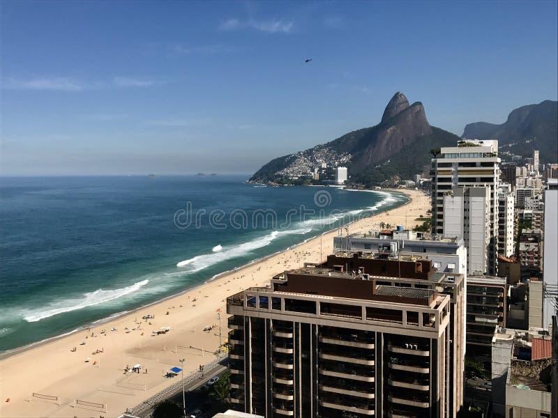 Ipanema& x27; s plaża zdjęcie stock