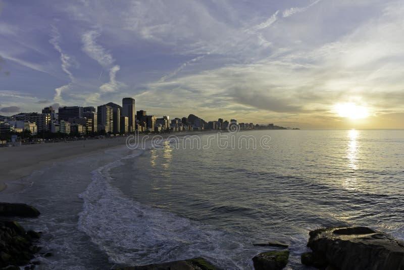 Ipanema sunrise royalty free stock photo