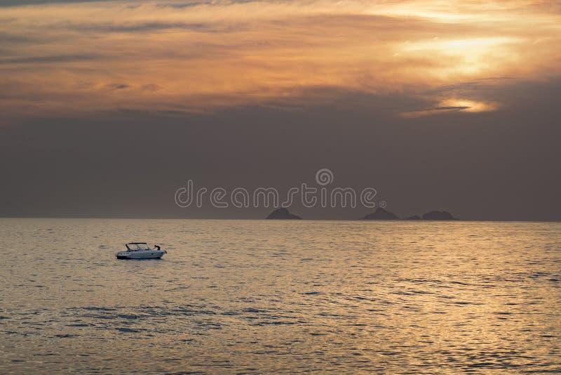 Ipanema at Sunset Rio de Janeiro Brazil stock images