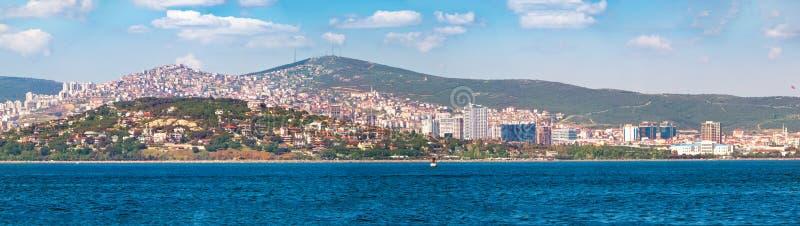 IPanorama av Istanbul från Buyukada fotografering för bildbyråer