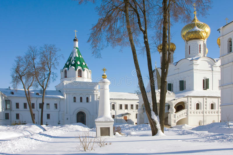 Ipatievsky monastery in Russia, Kostroma royalty free stock image