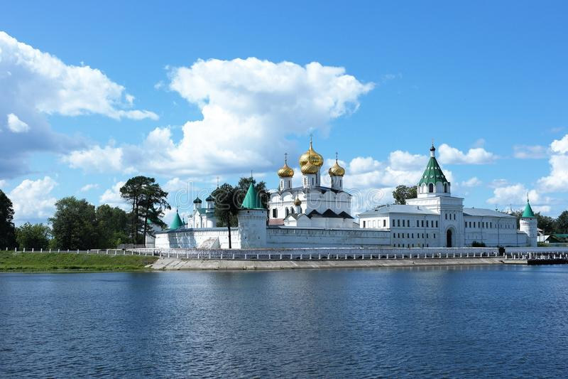 Ipatyevsky monastery, Kostroma, Russia. In summer stock photos
