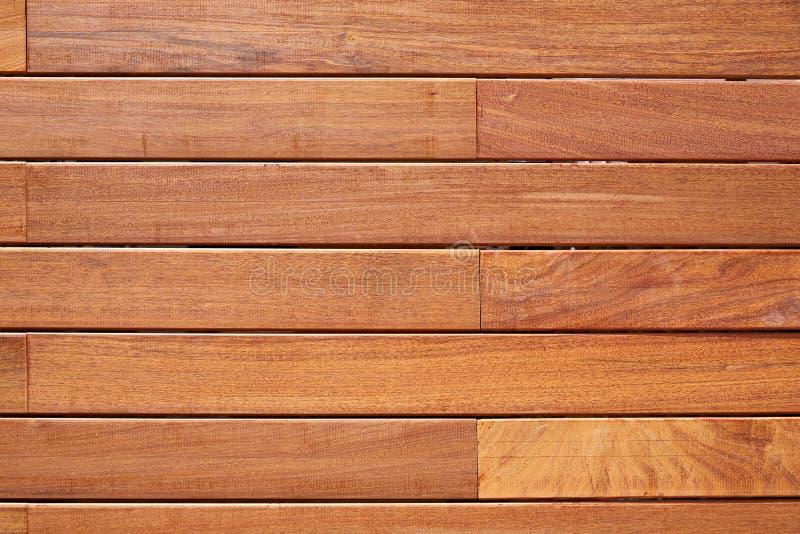 Ipe teak wood decking fence pattern. Tropical wood texture background royalty free stock image
