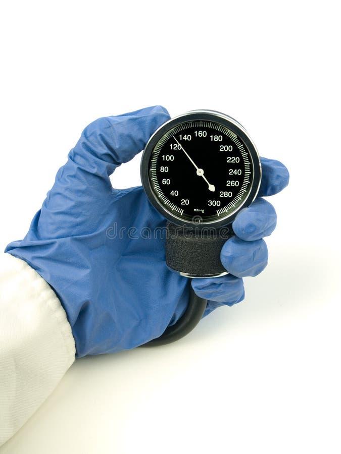 Ipertensione - pressione sanguigna sistolica fotografia stock libera da diritti