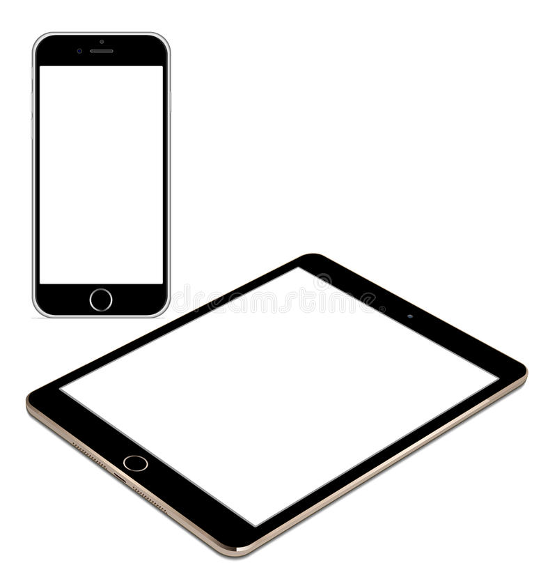 Iphoe 6 and IPad air 2 stock illustration