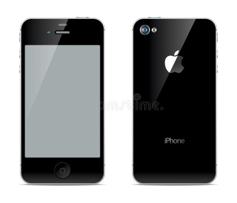 IPhone前面和后部 向量例证