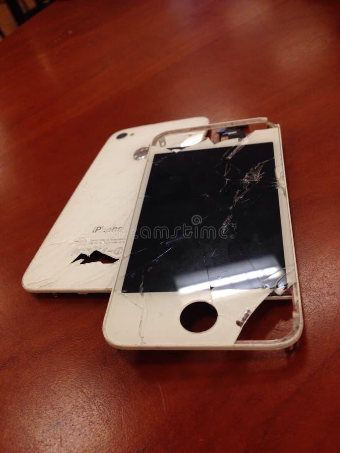 Iphone屏幕修理固定破裂 免版税库存图片