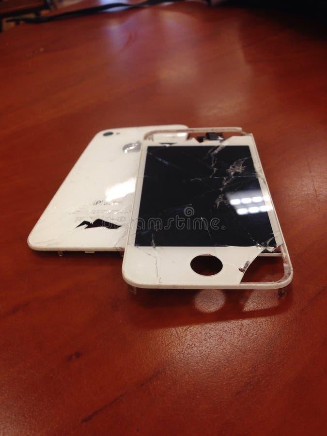Iphone屏幕修理固定破裂 库存照片