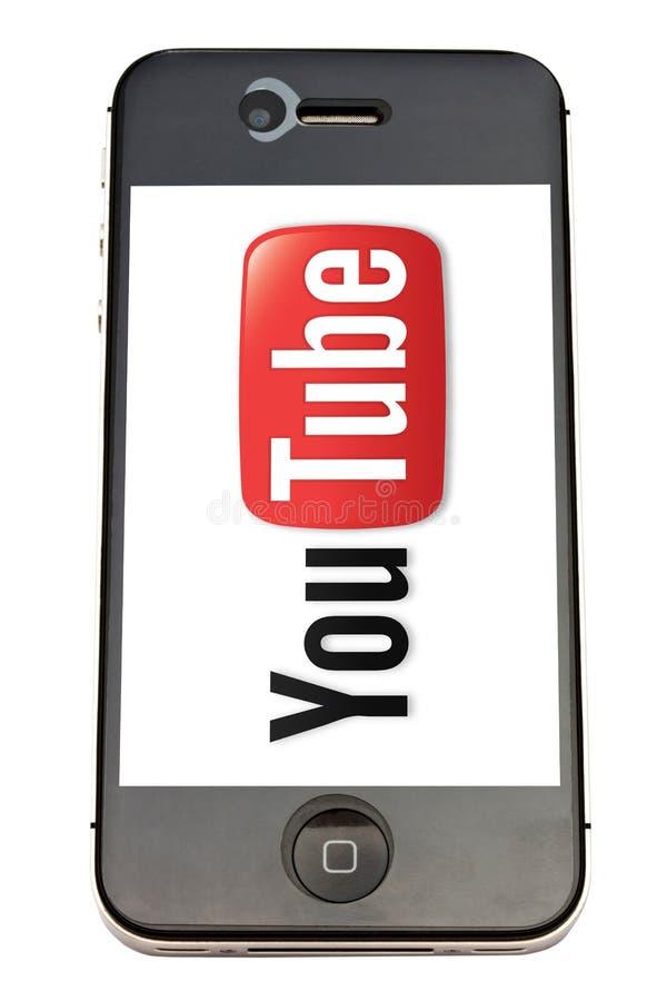 iphone徽标管您 库存图片