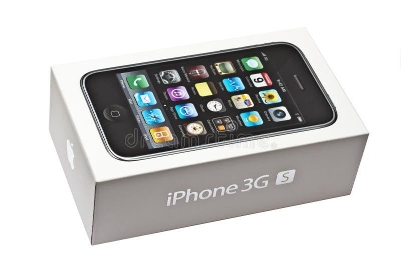iphone κιβωτίων στοκ εικόνες