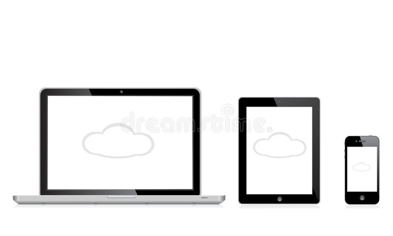 Iphone της MAC μήλων ipad ελεύθερη απεικόνιση δικαιώματος
