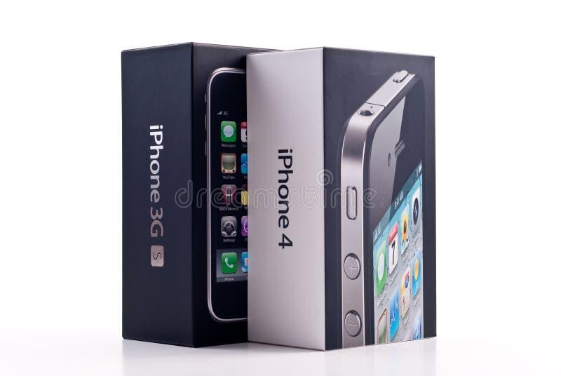 iphone яблока 3gs 4 стоковое фото rf