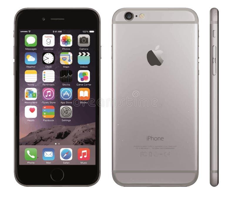Iphone 6传染媒介 向量例证