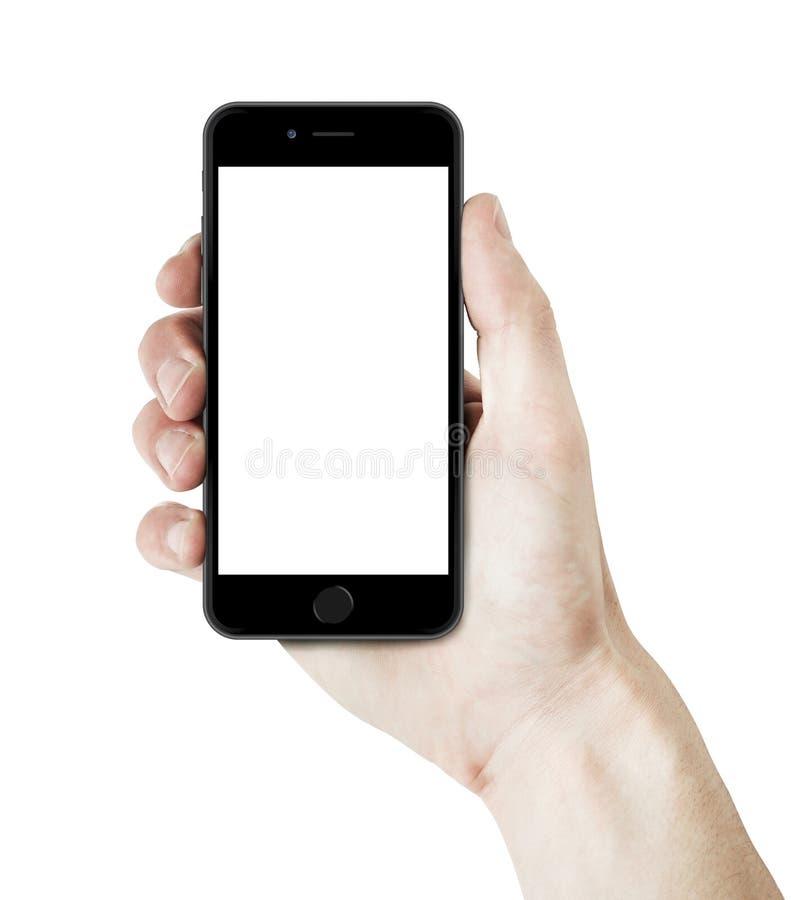 IPhone 6在手中 免版税图库摄影