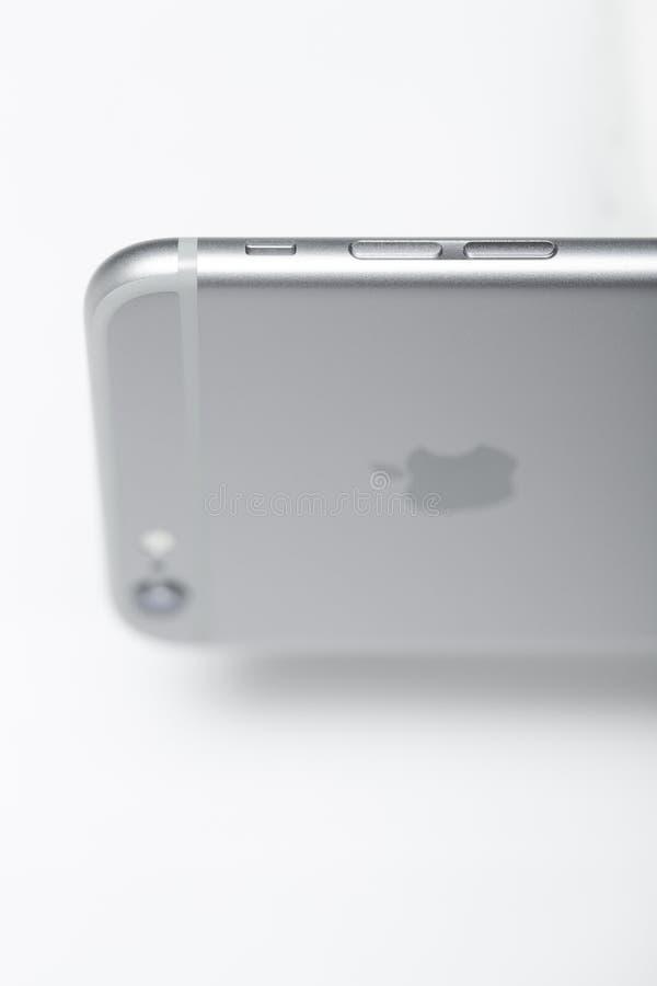 Iphone 6正宏观射击 免版税库存图片