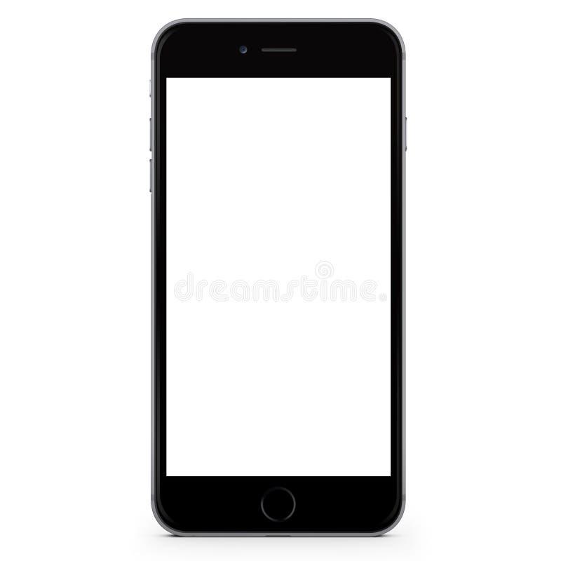 Iphone 6正黑色 免版税库存图片