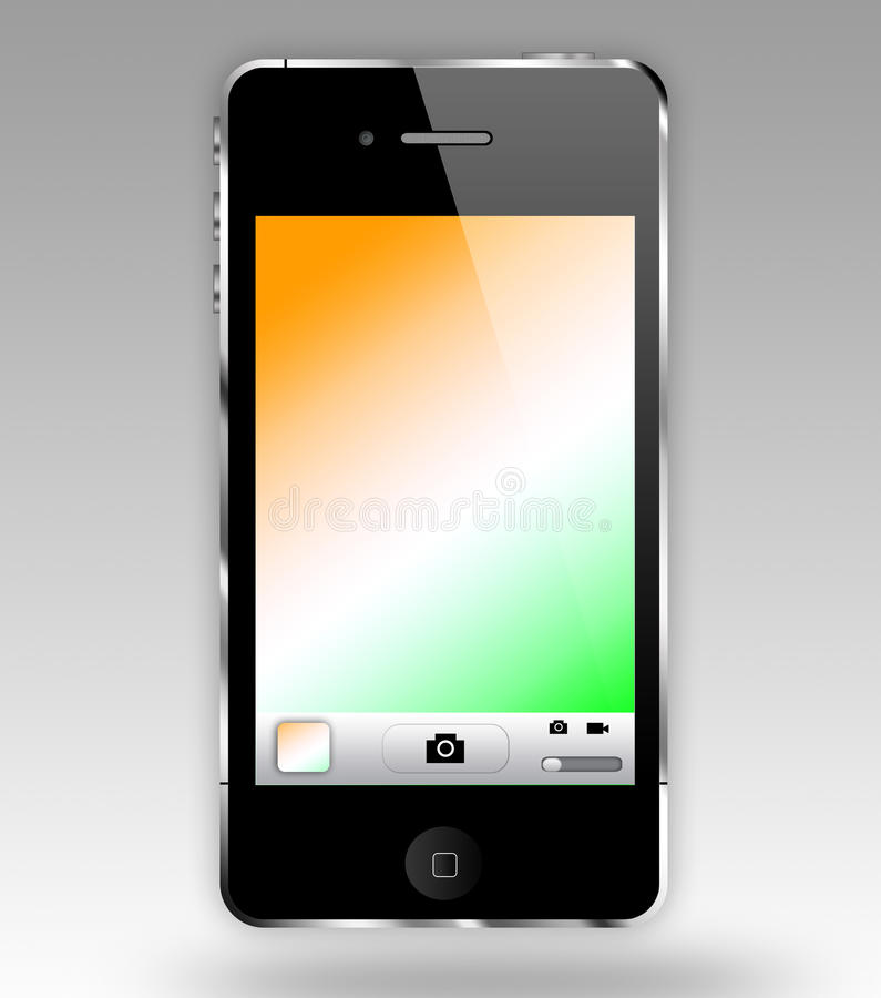 IPHONE. With the red white and green colored screen